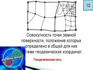 Совокупность точек земной поверхности, положение которых определено в общей д
