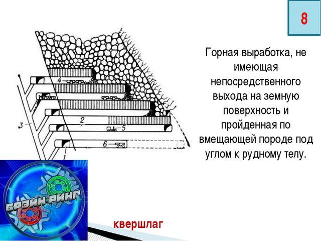 Горная выработка, не имеющая непосредственного выхода на земную поверхность и...