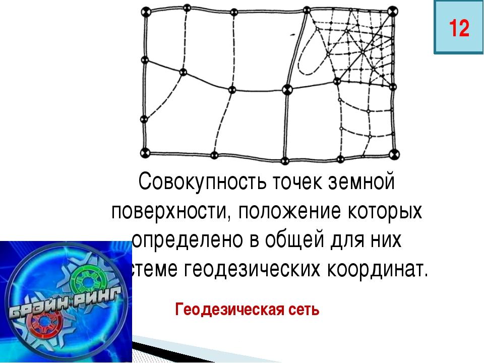Совокупность точек земной поверхности, положение которых определено в общей д...