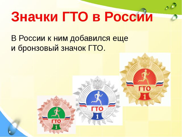 ВРоссии кним добавился еще ибронзовый значок ГТО. Значки ГТО в России