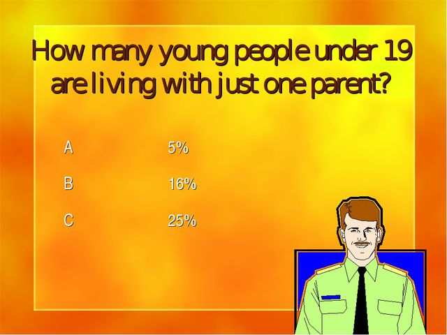 How many young people under 19 are living with just one parent?