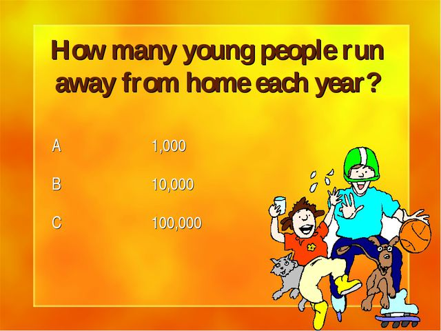 How many young people run away from home each year?