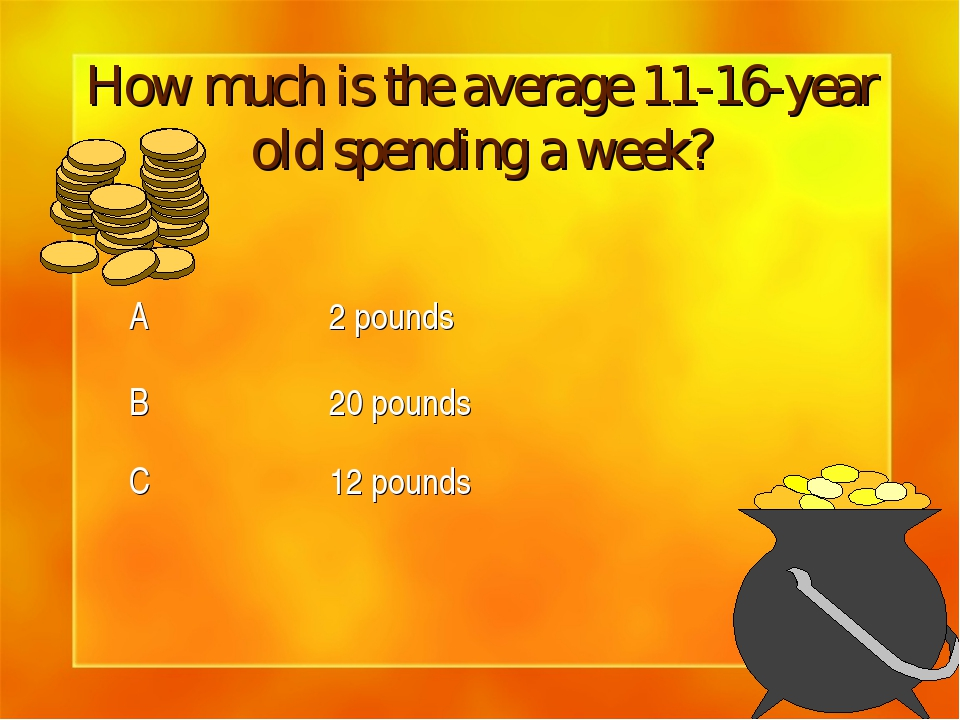 How much is the average 11-16-year old spending a week?