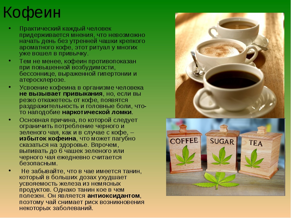 Кофеин Практический каждый человек придерживается мнения, что невозможно нача...
