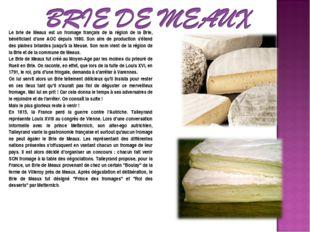 Le brie de Meaux est un fromage français de la région de la Brie, bénéficiant