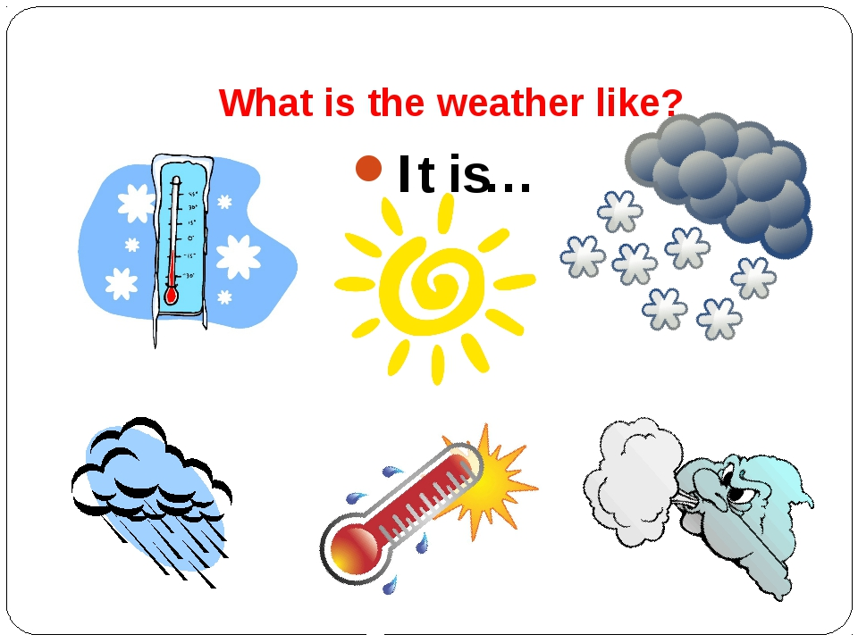 What is the weather like? It is…