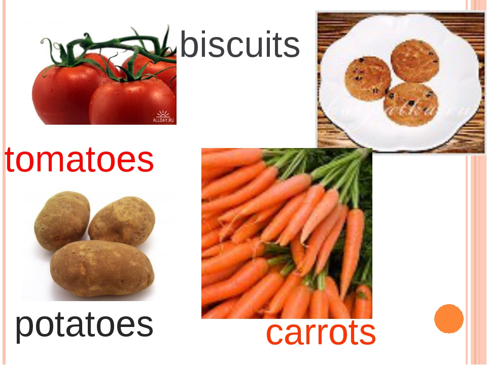 tomatoes biscuits potatoes carrots