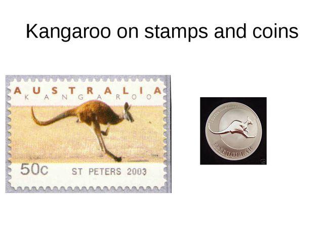 Kangaroo on stamps and coins