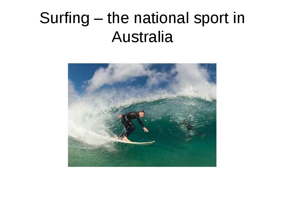 Surfing – the national sport in Australia