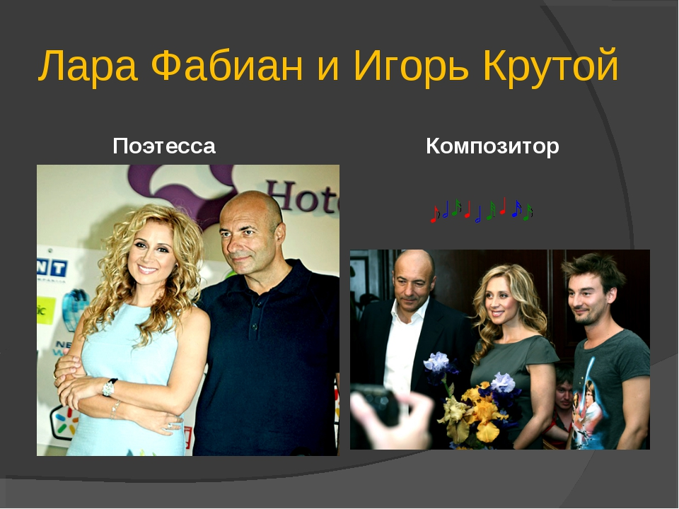 Лара Фабиан и Игорь Крутой Поэтесса Композитор