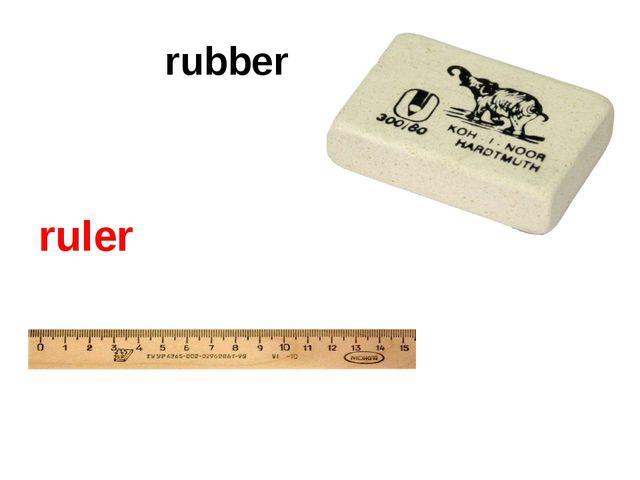 rubber ruler