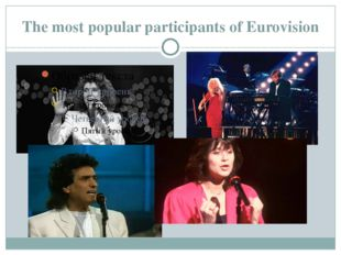 The most popular participants of Eurovision