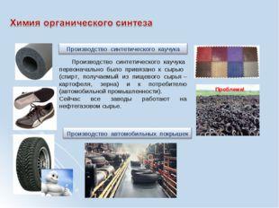 Производство синтетического каучука первоначально было привязано к сырью (сп