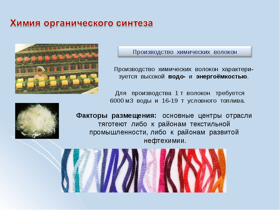 Производство химических волокон характери-зуется высокой водо- и энергоёмкост...