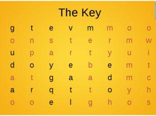 The Key kgtevmmoon monstermwt mupartyuir sdoy