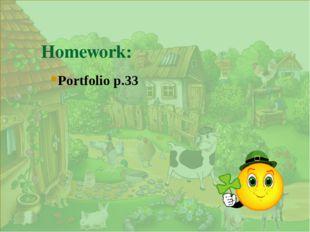 . Homework: Portfolio p.33
