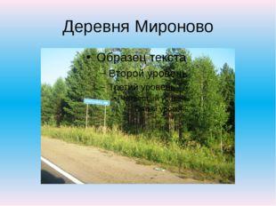 Деревня Мироново
