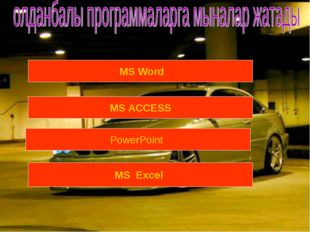 MS Word MS ACCESS PowerPoint MS Excel