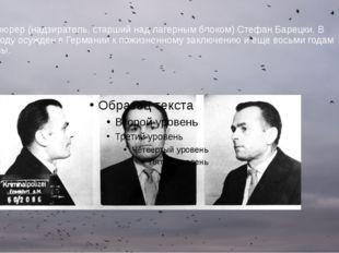 Блокфюрер (надзиратель, старший над лагерным блоком) Стефан Барецки. В 1965 г