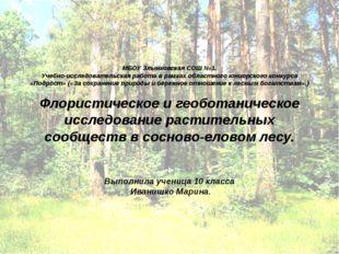 МБОУ Злынковская СОШ №1. Учебно-исследовательская работа в рамках областного