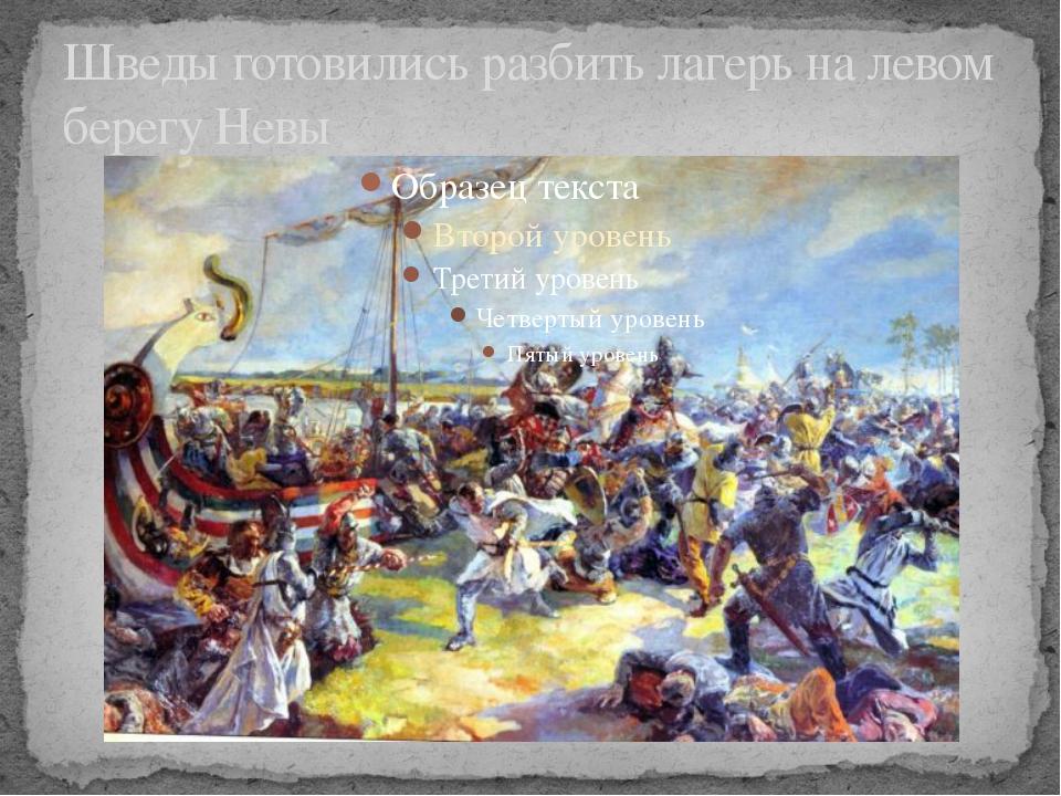 Шведы готовились разбить лагерь на левом берегу Невы