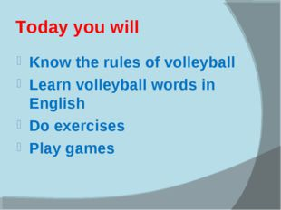 Today you will Know the rules of volleyball Learn volleyball words in English