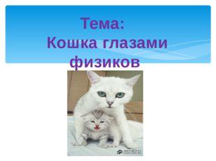 Тема: Кошка глазами физиков