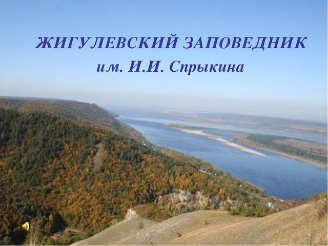 ЖИГУЛЕВСКИЙ ЗАПОВЕДНИК им. И.И. Спрыкина