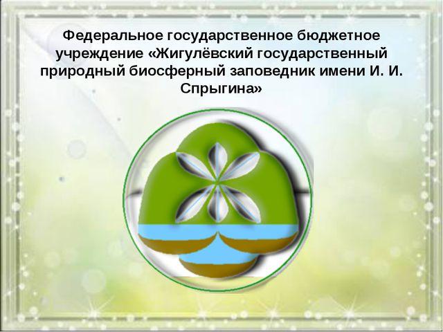 Федеральное государственное бюджетное учреждение «Жигулёвский государственный...