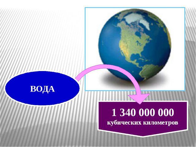 1 340 000 000 кубических километров ВОДА