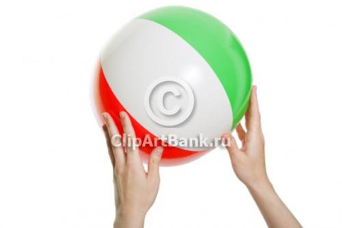 Пляжный волейбол - разноцветный мячик-ClipArtBank.ru-фотобанк,продажа лицензионных фотографий,изображений.Купить фотографию-Пляж