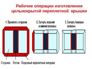 Рабочие операции изготовления цельнокрытой переплетной крышки