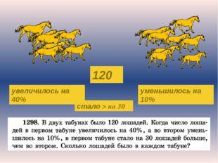 120 увеличилось на 40% уменьшилось на 10% стало > на 30 Журнал «Математика» №