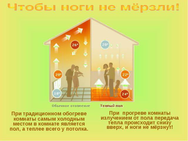 При традиционном обогреве комнаты самым холодным местом в комнате является п...