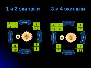 1 и 2 экипажи 3 и 4 экипажи