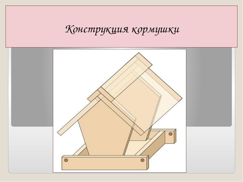 Конструкция кормушки