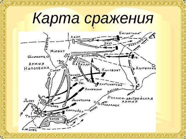 Карта сражения