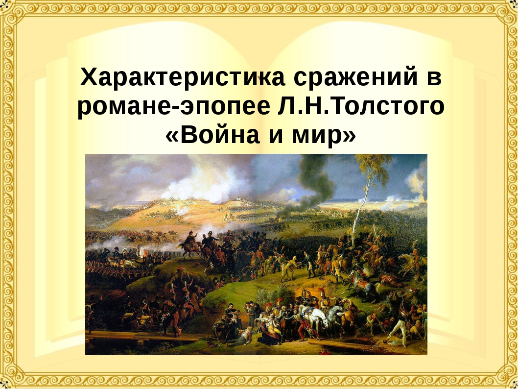 Характеристика сражений в романе-эпопее Л.Н.Толстого «Война и мир»