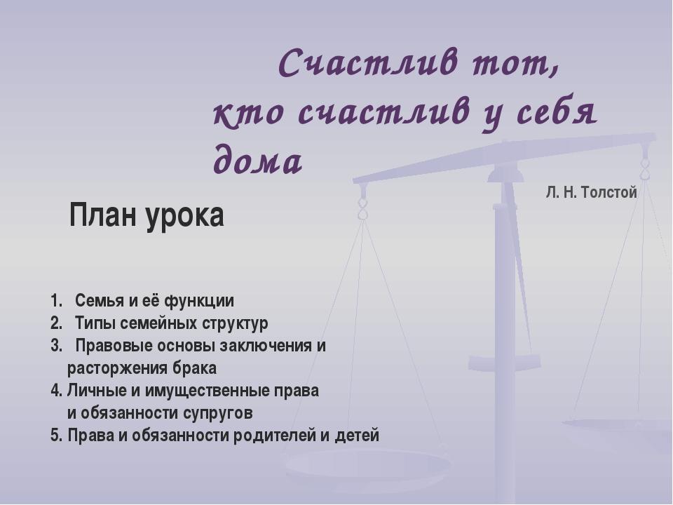 Семья и её функции Типы семейных структур Правовые основы заключения и расто...