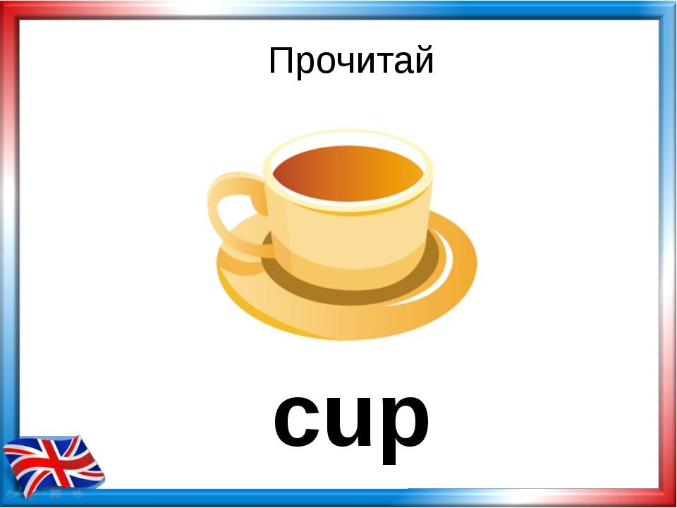 Прочитай cup