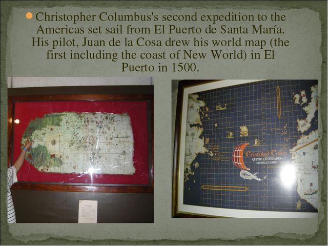 Christopher Columbus's second expedition to the Americas set sail from El Pue...