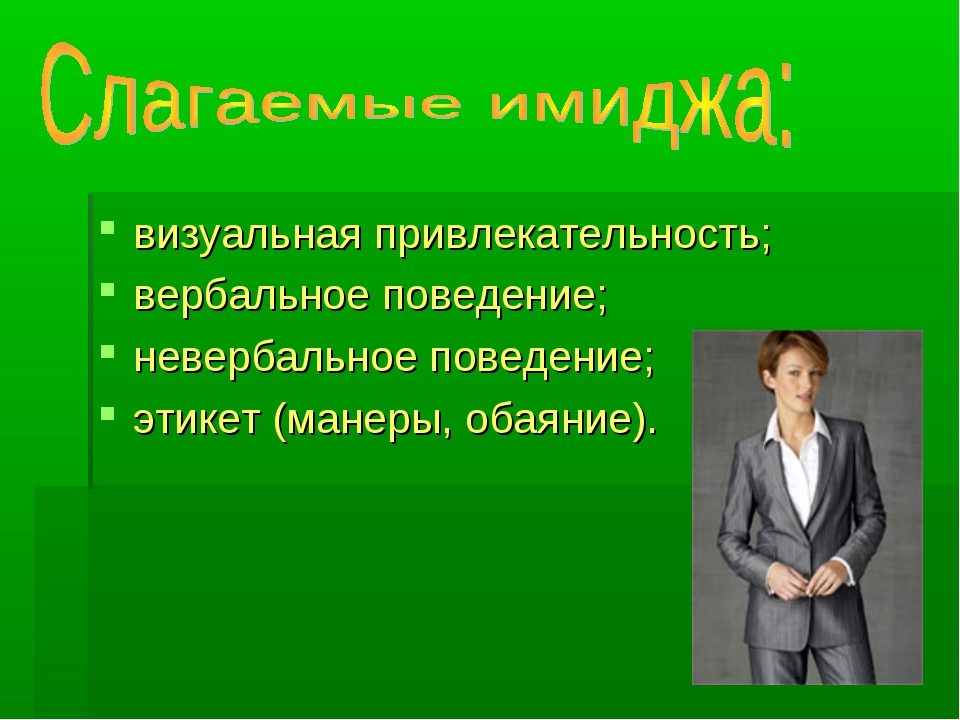 визуальная привлекательность; вербальное поведение; невербальное поведение; э...