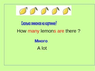 How many lemons are there ? Много. A lot.