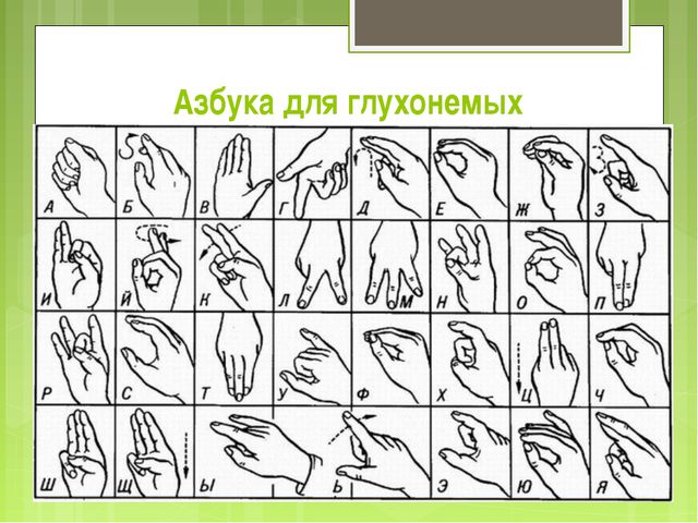 Азбука для глухонемых