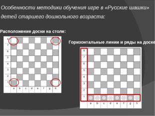 Особенности методики обучения игре в «Русские шашки» детей старшего дошкольно