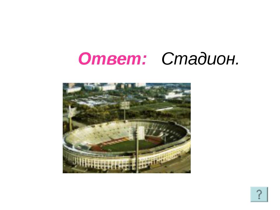 Ответ: Стадион.
