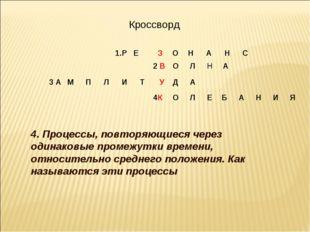 Кроссворд 4. Процессы, повторяющиеся через одинаковые промежутки времени, от