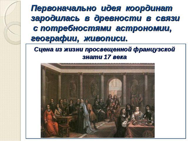 Первоначально идея координат зародилась в древности в связи с потребностями а...