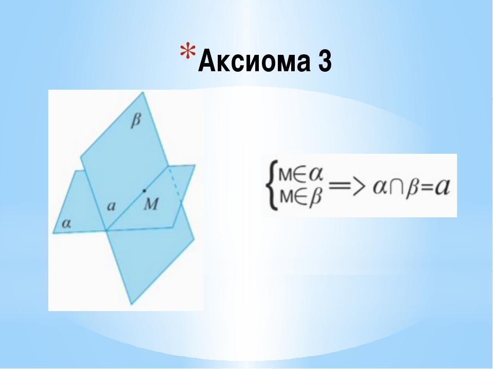 Аксиома 3