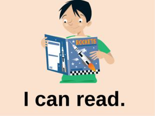 I can read.